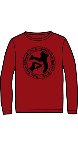 ÖTILLÖ W's Crew LS Shirt Burgundy